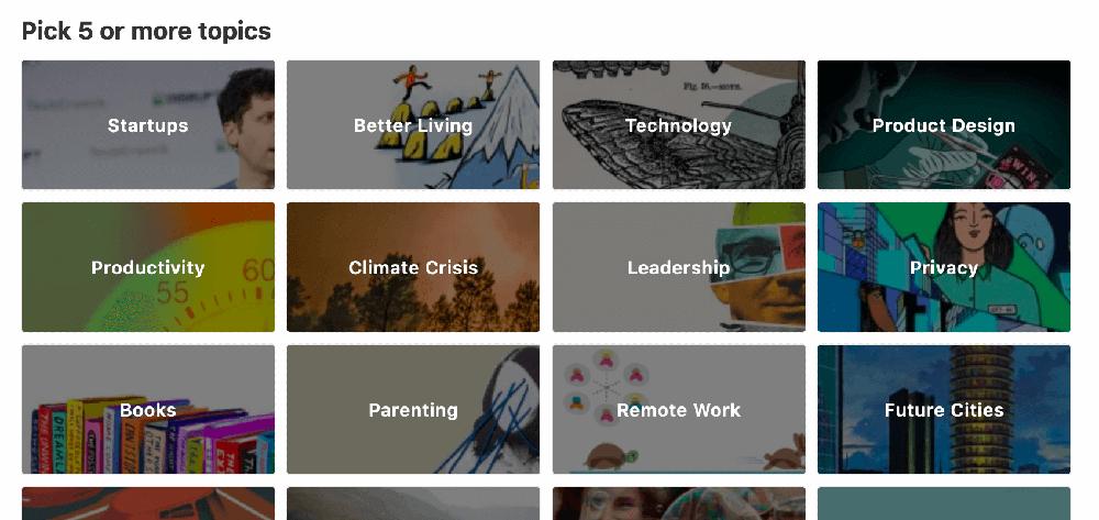 Follow topics